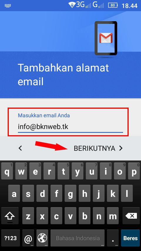 Akses email IMAP/POP3 di android